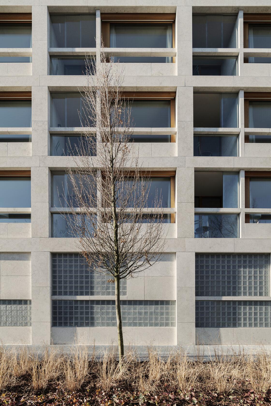 Schwabinger Carre Fassade dreisterneplus Architektur München