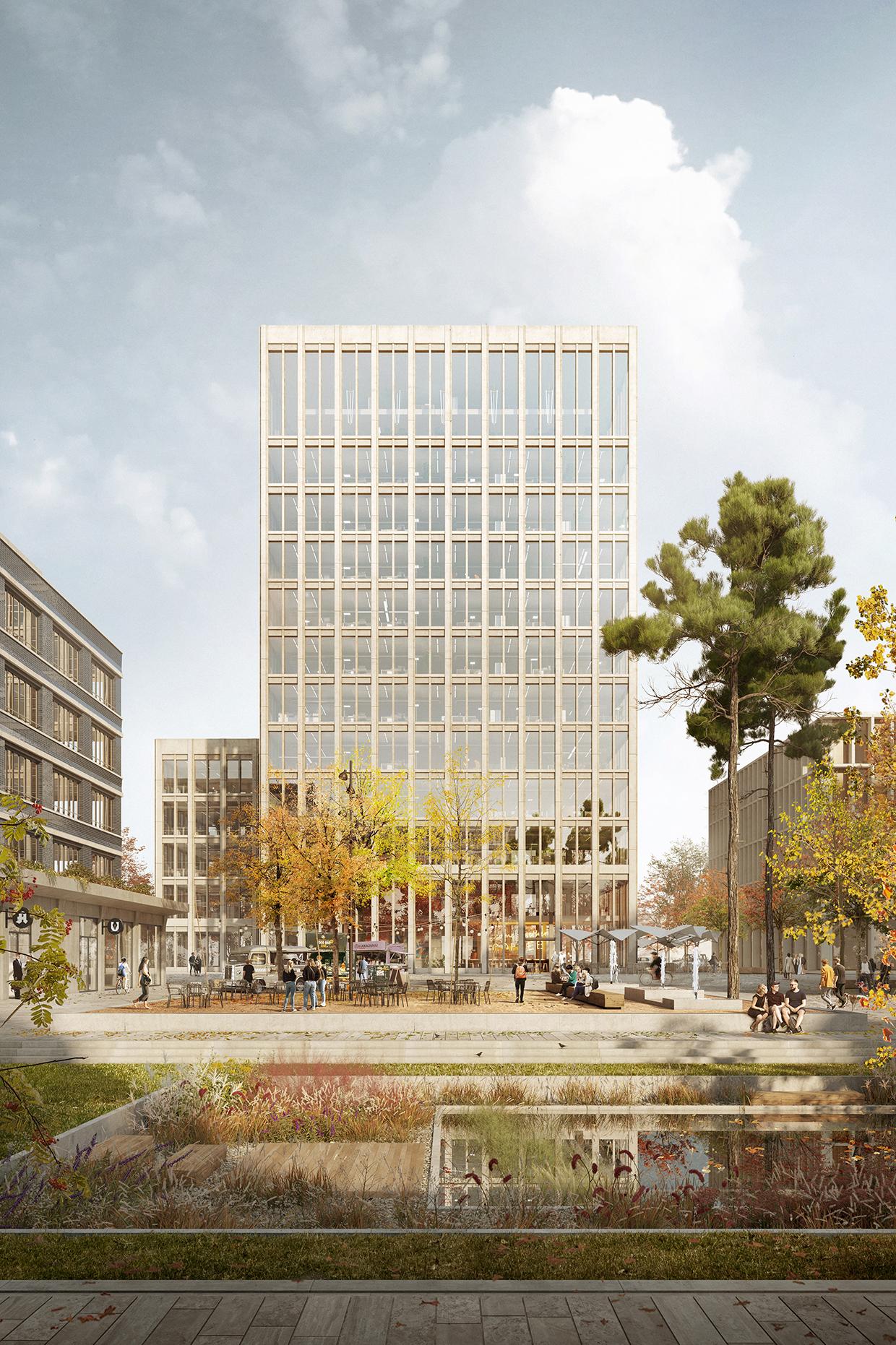 Neue Mitte Thon Wettbewerb Bürogebäude Meili Peter dreisterneplus