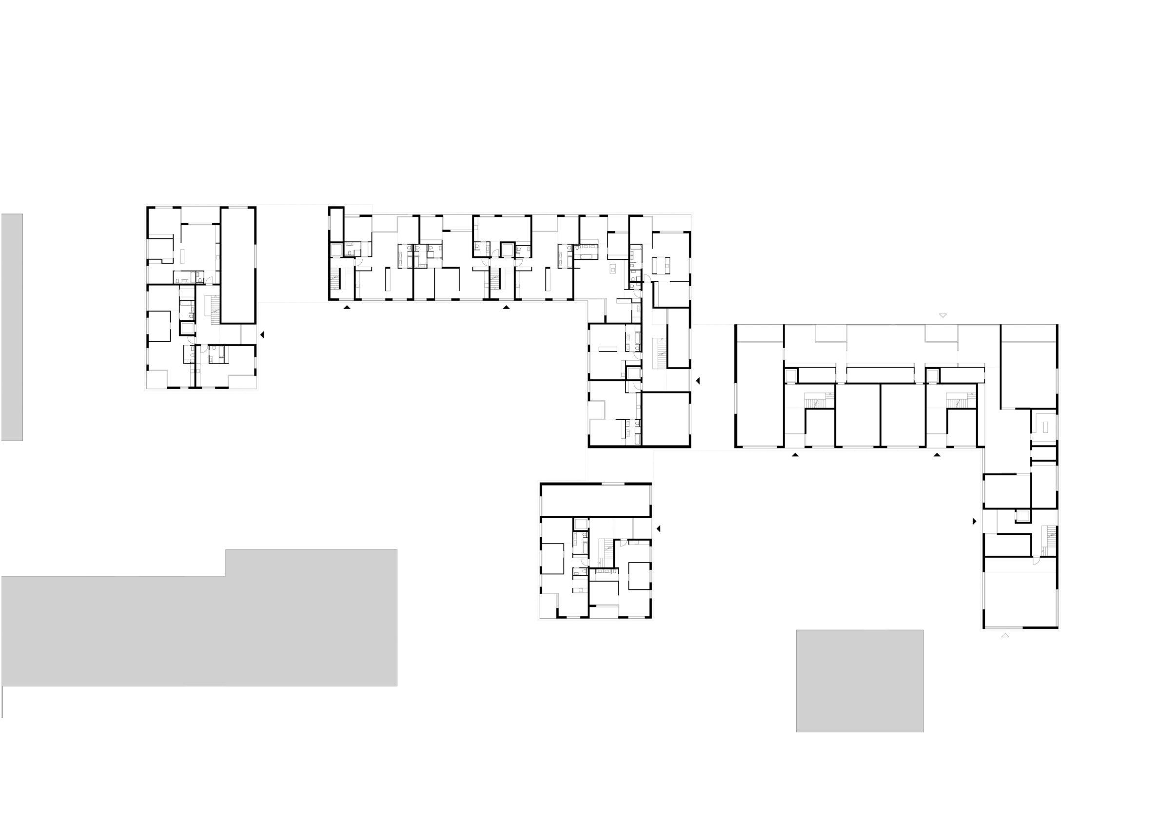 Grundriss Städtebau München Wohnungsbau dreisterneplus