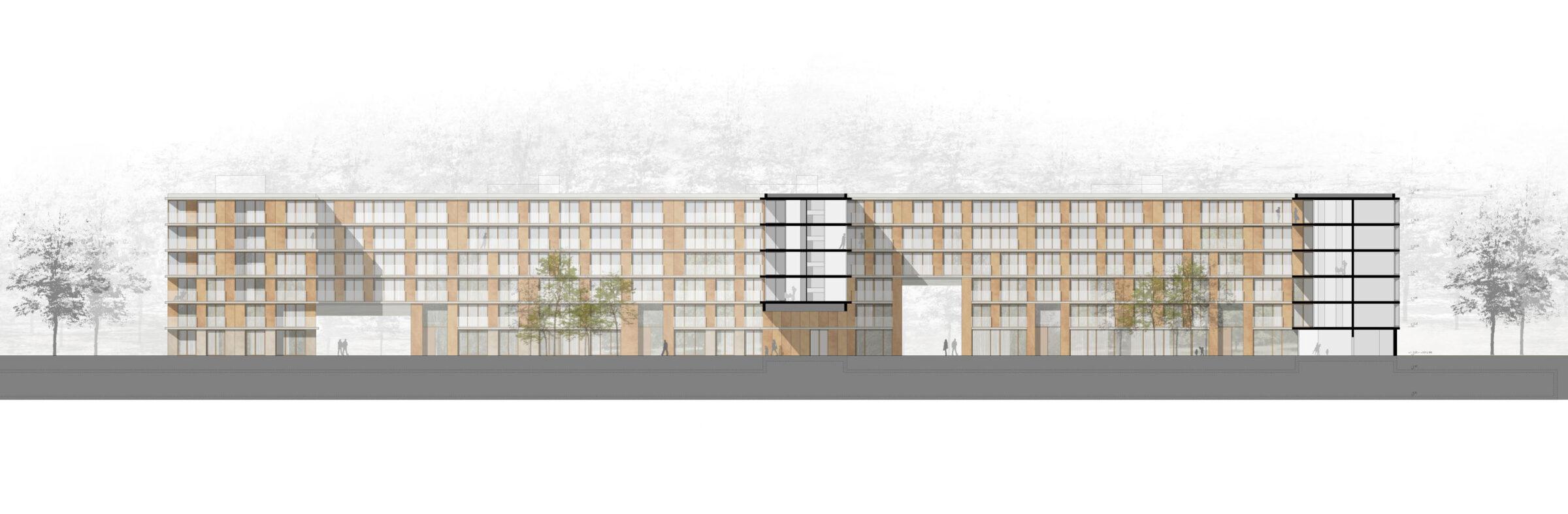 Städtebau München Wohnungsbau dreisterneplus Ansicht
