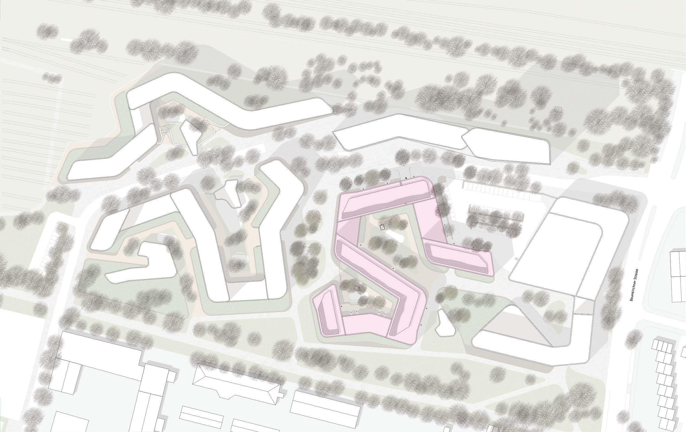 Baumkirchen Wohnungsbau Wettbewerb Meili Peter München dreisterneplus