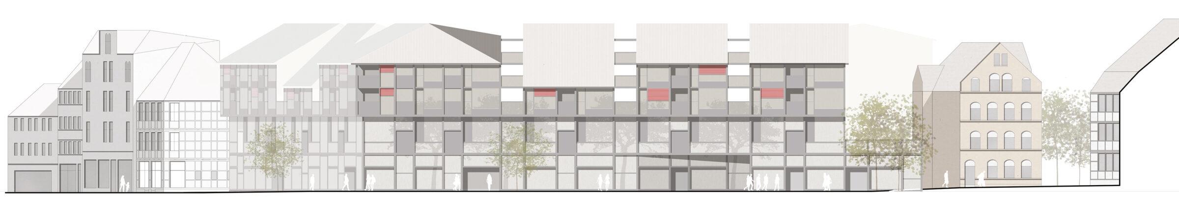 Weender Straße Göttingen Wohnungsbau Wettbewerb dreisterneplus Meili Peter München