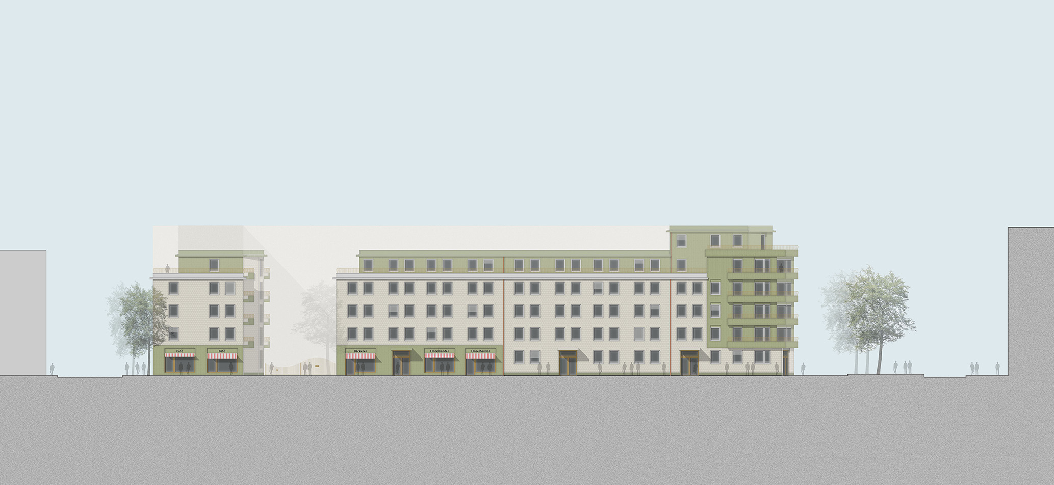 Am Weinberg Ulm Wettbewerb Wohnungsbau dreisterneplus Meili Peter Wohnbaumodul